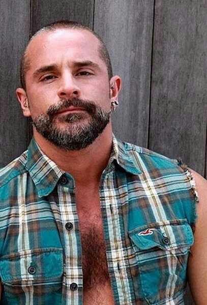 hairy muscle daddy beards men flannel steel men