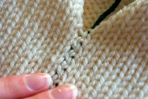 Bickford Stitch - makes an invisible vertical flat seam.