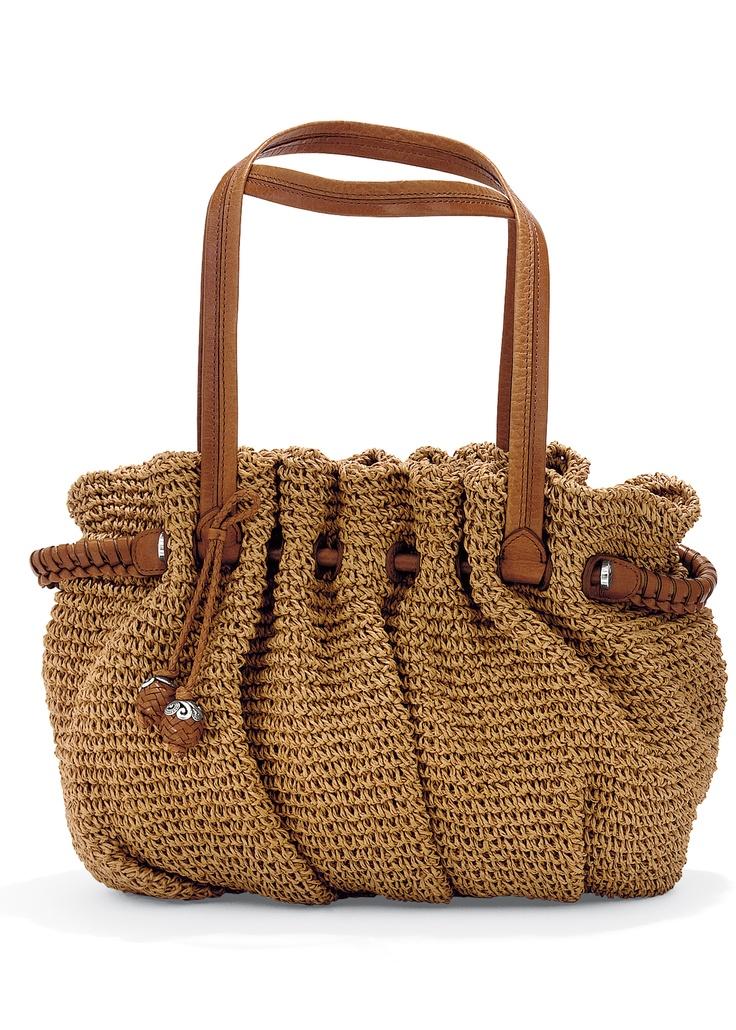 Brighton Elisa straw satchel