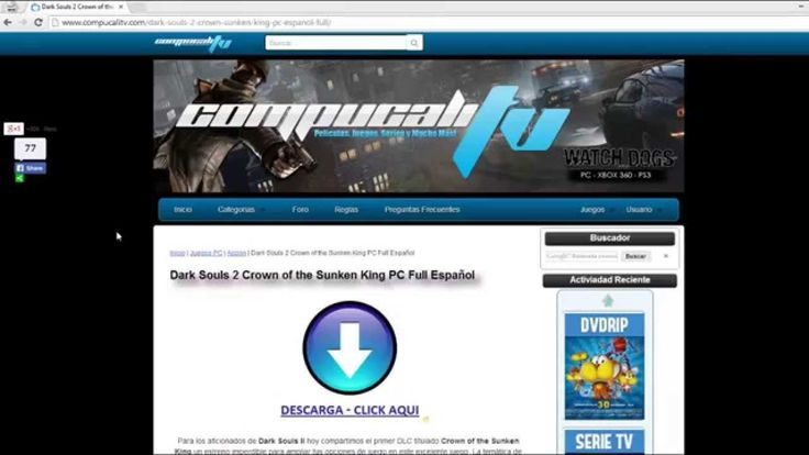 Descargar Dark Souls 2 Crown Of the Sunken King PC Español