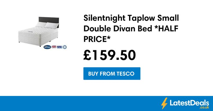 Silentnight Taplow Small Double Divan Bed *HALF PRICE*, £159.50 at Tesco