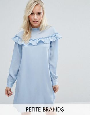Vero Moda Petite High Neck Ruffle Smock Dress    I just wish it came in a color great for ME!