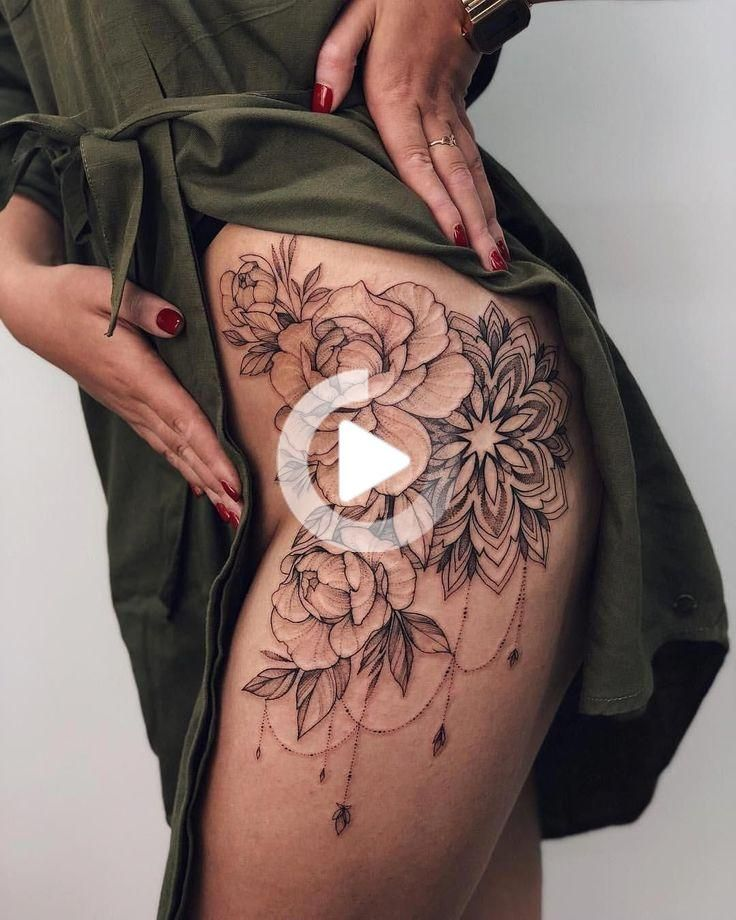 Frauen tattoos oberschenkel