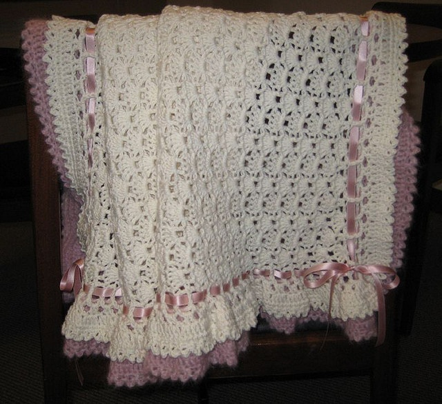 Double Ruffle Baby Blanket Perfect For A Homecoming
