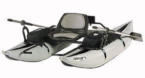 Fish Cat Cougar Quad Fishing Pontoon Boat w/ Electric Trolling Motor, Waders, and much more!
