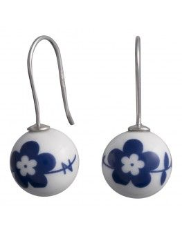 Andersen Porcelain - porcelæns ørebøjle - blå