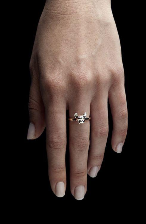 #silver #ring #frenchie #frenchbulldog