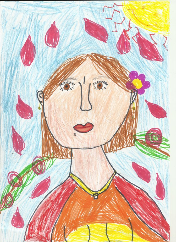 My daughter's drawing, for Mother's Day