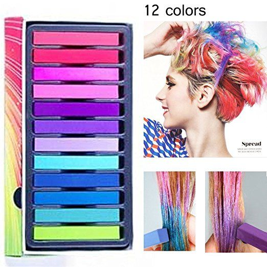 Temporary Hair Chalk variety of colors with over 100 five star reviews on Amazon. Tween Gift.