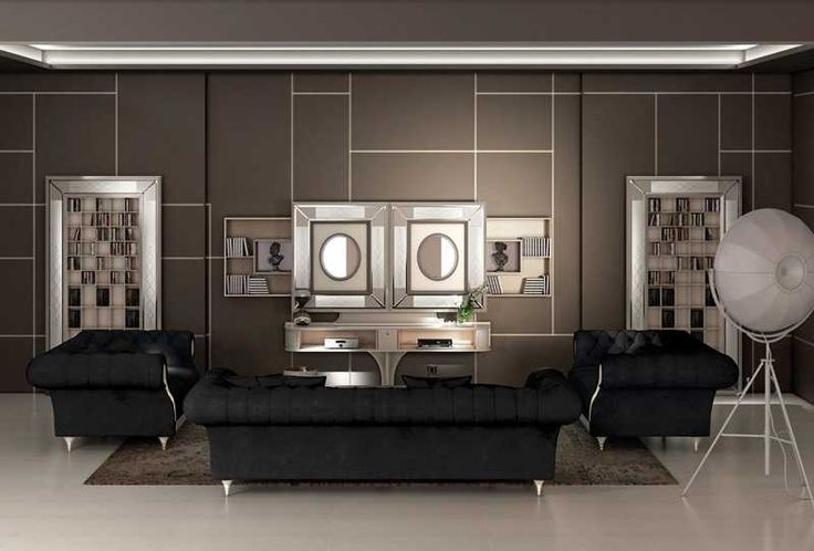 Model Sliding home cinema is a tv stand equipped of two remote controlled sliding doors, which hide tv inside, leaving the luxury furniture be the unique leading element of the wall. #vismaradesign #luxuryfurniture #interiordesign #livingroom