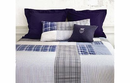 Descamps Tailor Denim Bedding Pillowcases Regular A masculine composition of five different shirt patterns in a patchwork-like arrangement the Tailor Denim Bedding set has been crafted out of 100% cotton with 200 threads per inch. http://www.comparestoreprices.co.uk/bedding/descamps-tailor-denim-bedding-pillowcases-regular.asp