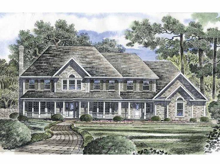 Eplans Farmhouse House Plan Luxurious Brick Estate