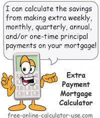 mortgage payment calculator with extra payment