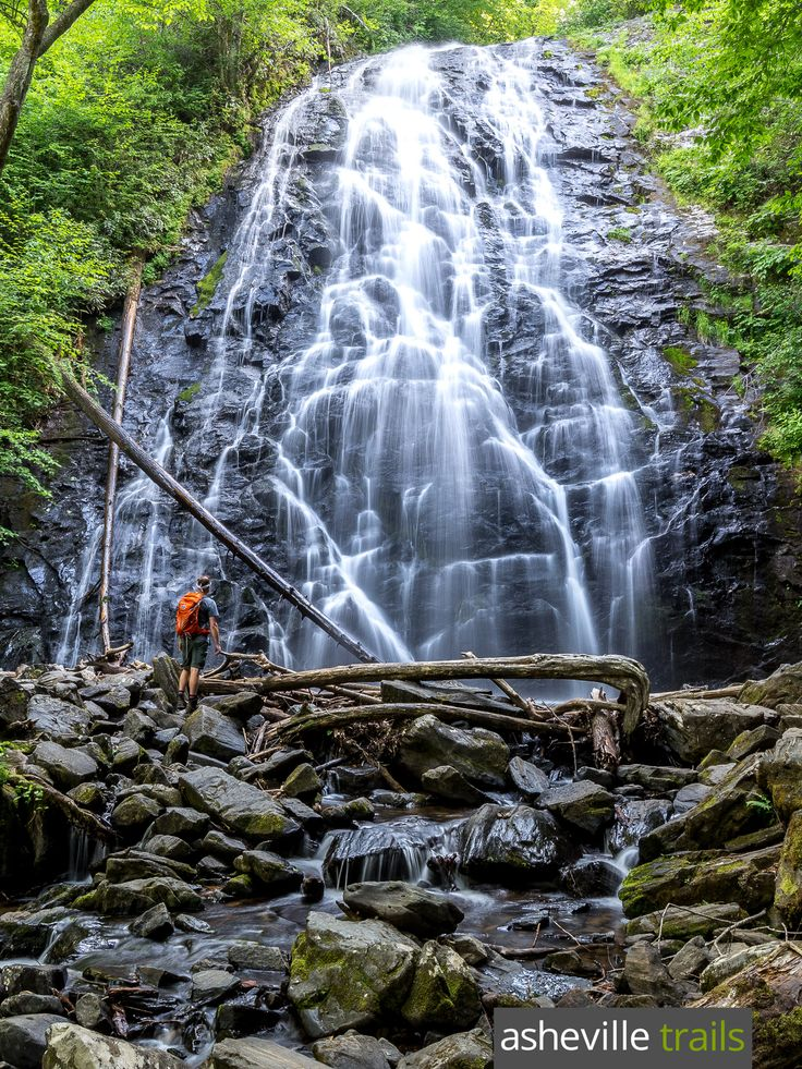 Hike to North Carolina's Crabtree Falls, a towering waterfall just off the Blue Ridge Parkway