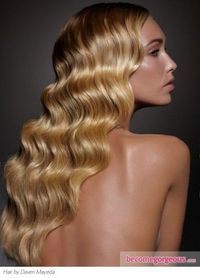 """finger waves: this can be accomplished with a curling iron and a """"root tong"""" technique."""