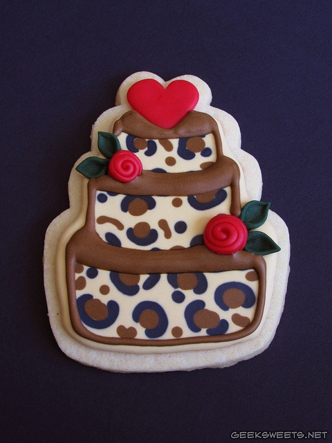 leopard print cake cookie, someone love me enough to make theses for me