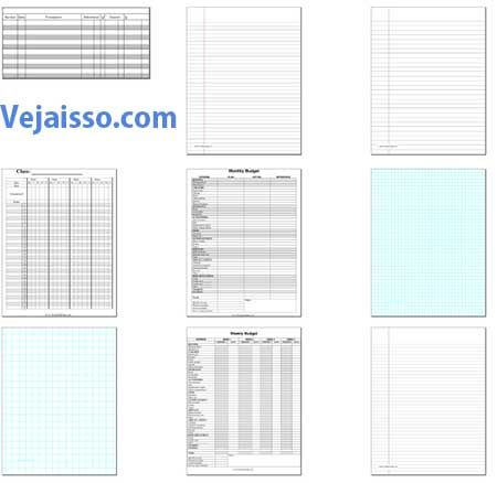 Imprimir papel com linhas, bordar, partitura, quadriculado em casa!