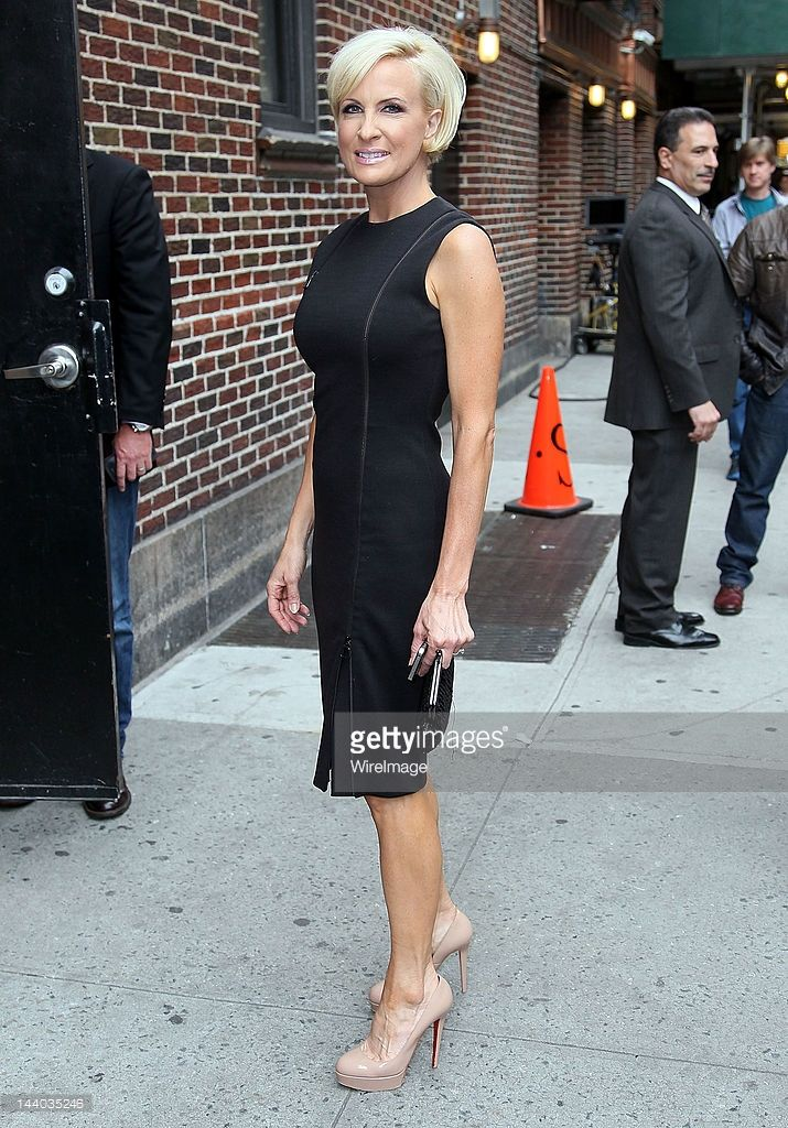 Mika Brzezinski arrives to 'Late Show with David Letterman' at Ed Sullivan Theater on May 8, 2012 in New York City.