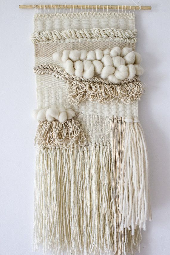 Boho wall weaving tapestry Woven wall hanging by weavingmystory