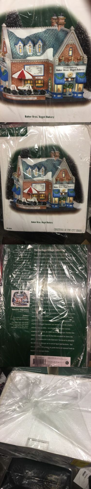 Christmas Collectible Department 56: Dept.56 Baker Bros. Bagel Bakery Christmas In The City Series 58920 Nos Retired -> BUY IT NOW ONLY: $46.5 on eBay!