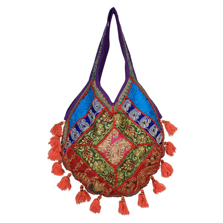 Lovely work of faux beads , pearls and rhinestones  gives a flashy look to this potli  purse and ideal for parties .These are handcrafted  products so any imperfections should be taken as normal.For more please visit www.saashiwear.com