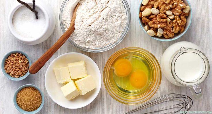 Viele Tipps zum Backen ohne Ei, Milch, Zucker und Co.: Wie kann man Eier im Kuchen ersetzen? Was tun, wenn Backpulver fehlt? Was statt Butter verwenden?