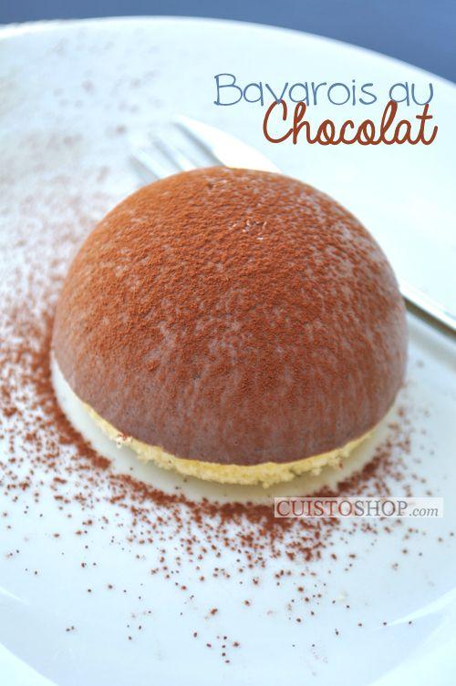 "Bavarois au chocolat ""Dôme"""