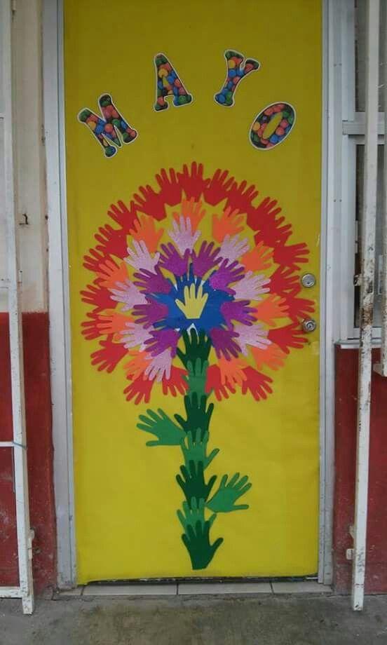 Pin de mayela guzm n en decoraci n de puertas classroom for Puertas decoradas para el 10 de mayo