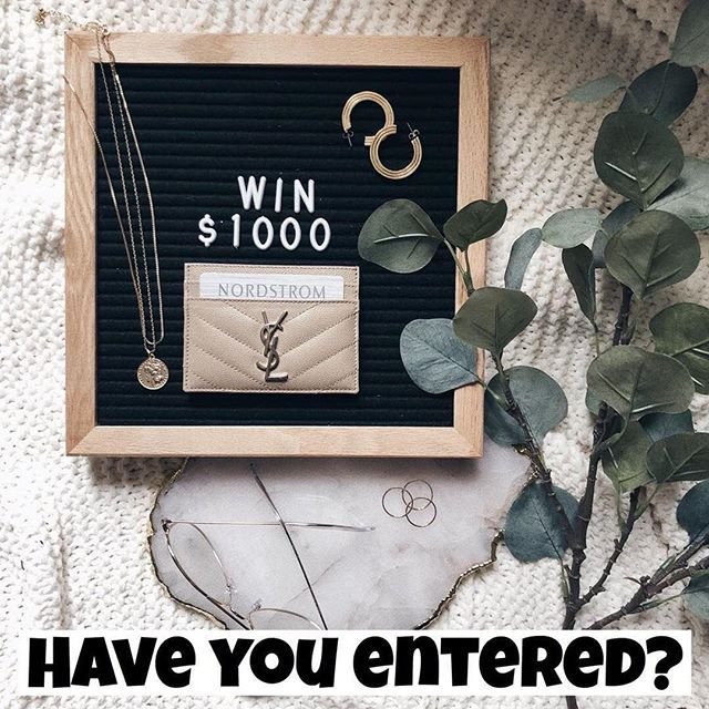 Have you entered for a chance to win $1000 Nordstrom card? See original post to enter and head to @theskinnyaffair next!