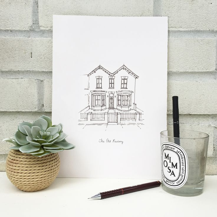 Personalised+Hand+Drawn+Line+Drawing, £48.00