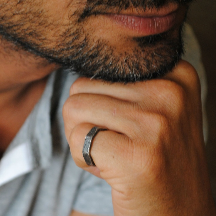 Octagon cattle fish ring for men (preferably not on the his pinky though..)