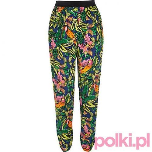 Moda festiwalowa River Island - wzorzyste spodnie #polkipl