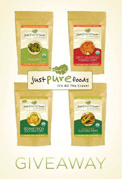Enter to win healthy, vegan and raw snacks from Just Pure Foods!