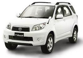 MOBIL Toyota Rush = mobil yang pengunjung pakai