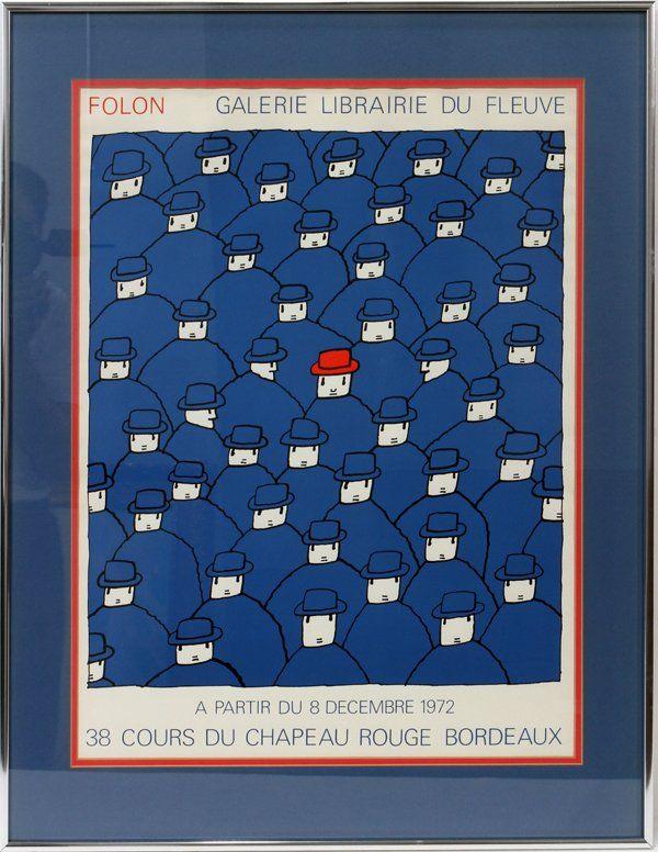 Jean Michel Folon, Le chapeau rouge,1972