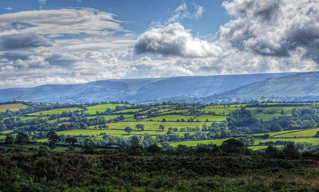 Looking across the valley to the Black Mountains in Wales | Flickr - Photo Sharing!