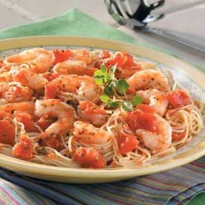 Italian Shrimp and Pasta Recipe -- This is one of my favorite recipes! Looks like a dish I got at O'Charley's before. mmmm!