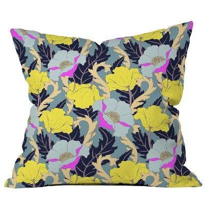 DENY Designs June Yellow Throw Pillow
