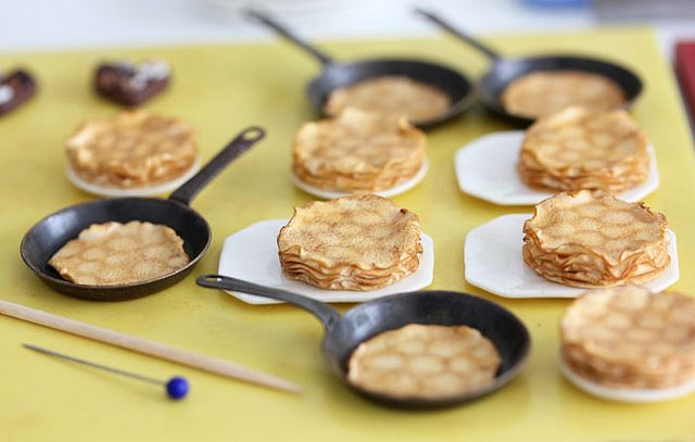 Work in Progress - Miniature Crepes / Pancakes by PetitPlat - Stephanie Kilgast, via Flickr