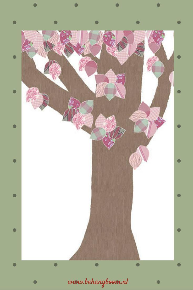 Mooie #bloemenboom van #behangboom voor op de #kinderkamer of #babykamer. Kijk voor meer #inspiratie op de site van #behangboom. We verkopen ook #behangdieren en #behangfiguren.