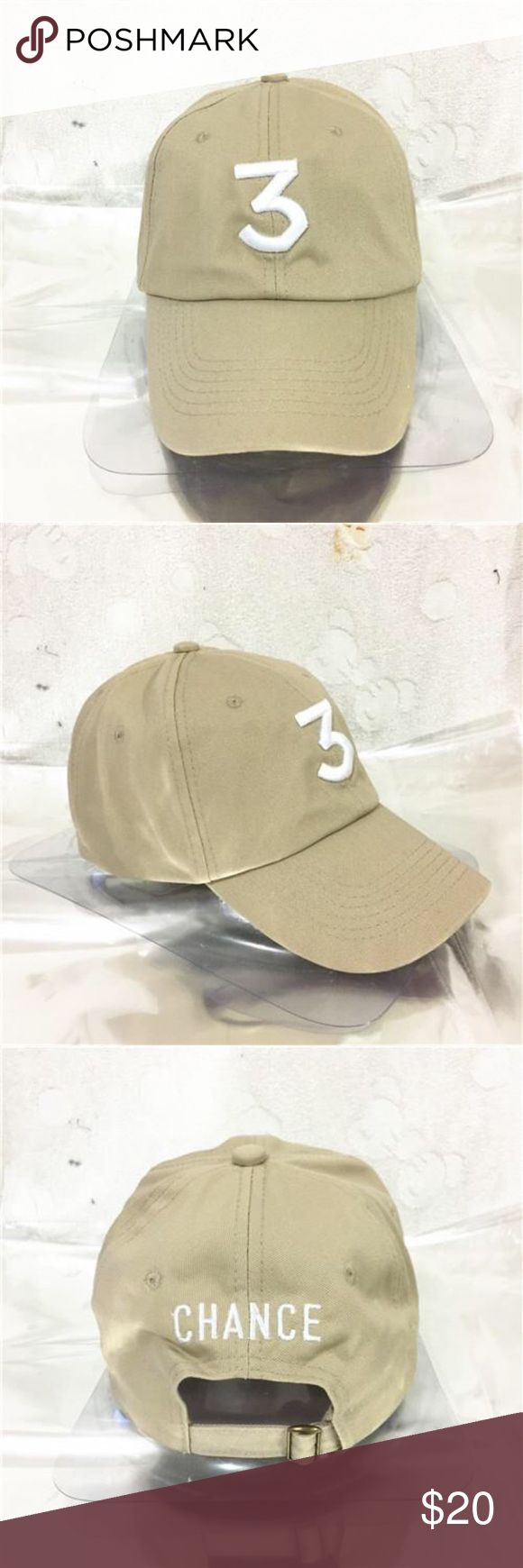 **CHANCE 3 THE RAPPER KANYE WEST BASEBALL CAP STYLISH NEVER BEEN WORN, MINT CONDITION CHANCE THE RAPPER HAT IN LIGHT KHAKI /TAN  WITH ADJUSTABLE BACK Kanye West Accessories Hats