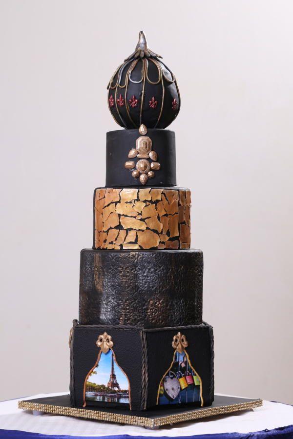modern wedding cake by saloni. Black Bedroom Furniture Sets. Home Design Ideas