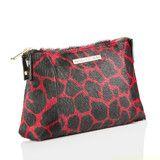 Clutch Bag in Red/Black Giraffe Print Calf Hair | Vancliffe Dean