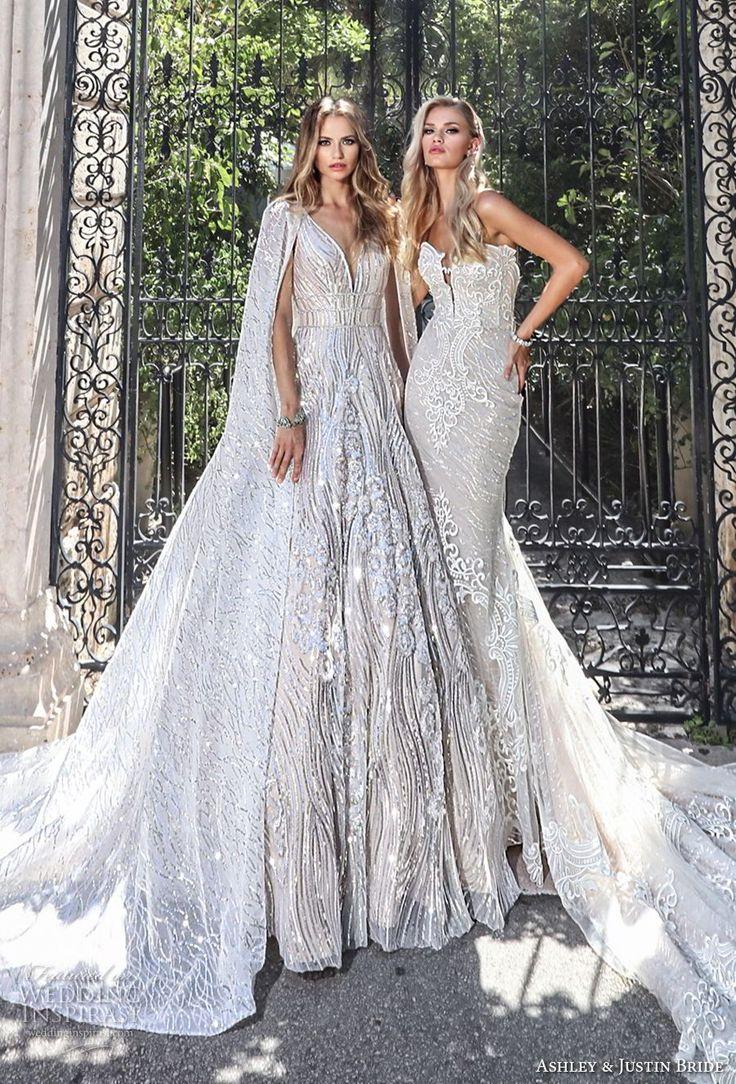 ashley justin spring 2018 bridal wedding gowns 1 -- Ashley Justin Bride Spring 2018 Wedding Dresses #wedding #bridal #weddings