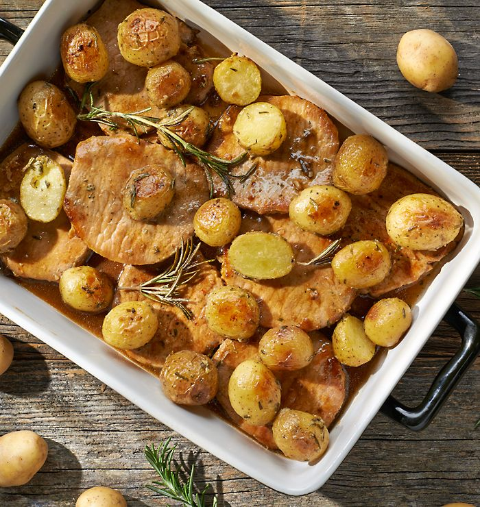 Pieczona wieprzowina z ziemniaczkami #lidl #przepis #wieprzowina #ziemniaki