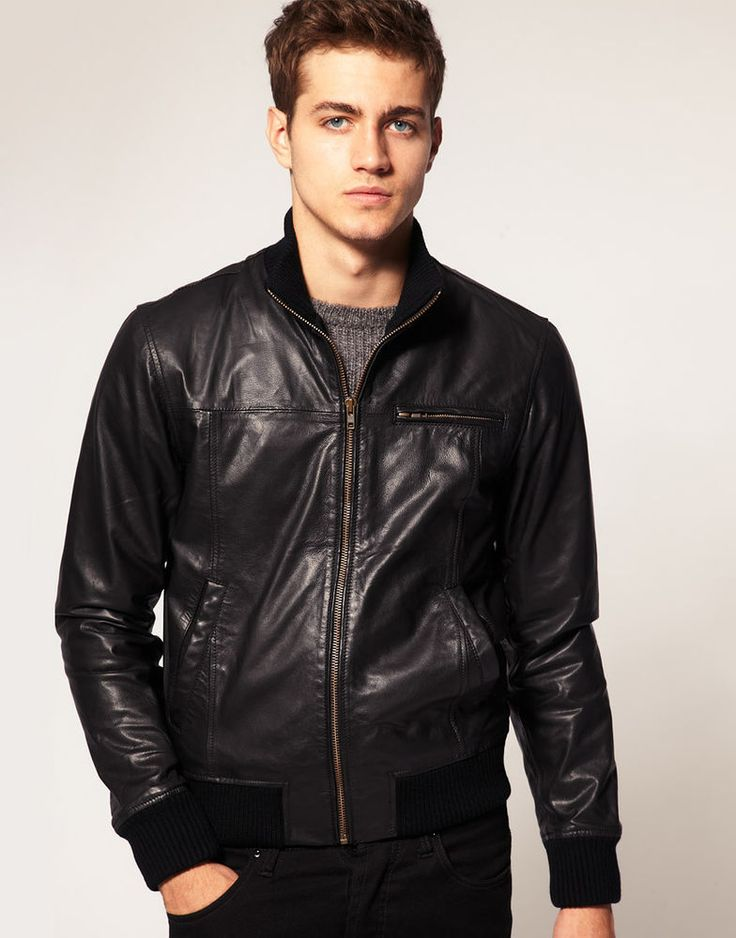 57 best men s Leather Jacket images on Pinterest