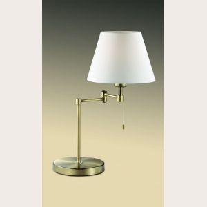 ЛАМПА НАСТОЛЬНАЯ ODEON LIGHT 2481/1T - классический тканевый абажур и ножка оригинальной конструкции.