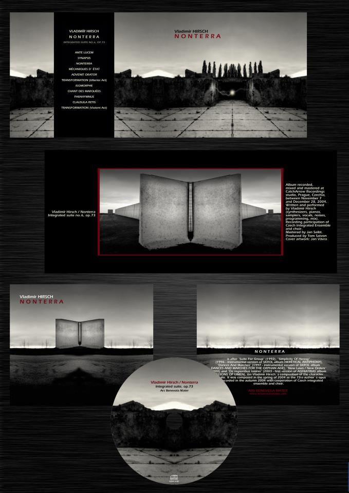 """Vladimír Hirsch - """"Nonterra"""" album flyer"""