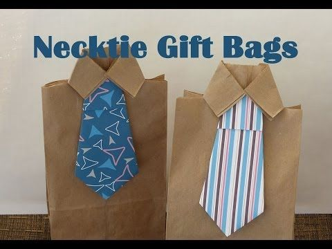 DIY Necktie Gift Bags - So cute for Father's Day!
