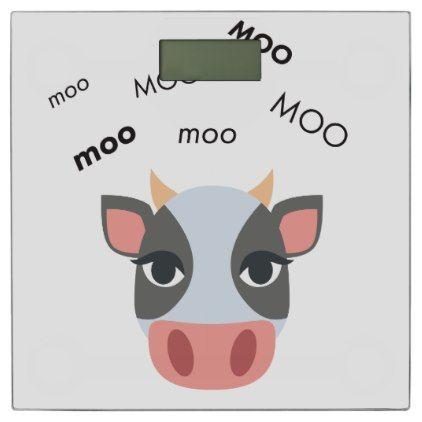 #cute - #Moo Cow Cute Emoji Bathroom Scale